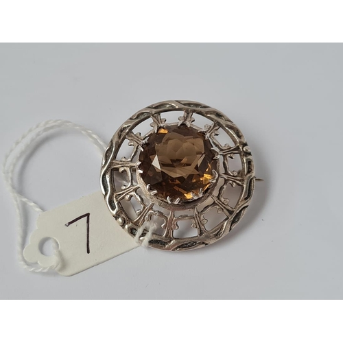 7 - A silver Scottish type brooch