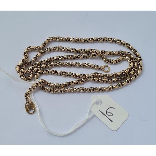 6 - A fancy neck chain in 9ct - 11.2gms