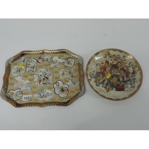 1002 - 2x Oriental plates...