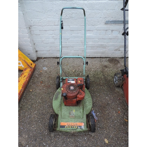 11 - Hayter Kestrel petrol engine lawn mower...
