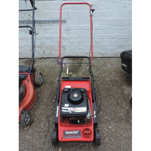 13 - Qualcast petrol engine lawn mower...