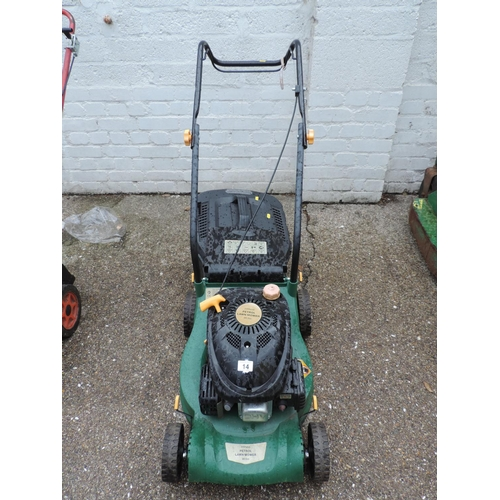 14 - Petrol engine lawn mower...