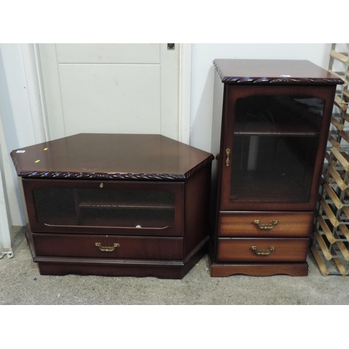 165 - Television stand and cabinet...