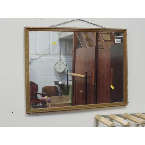 166 - Framed mirror...