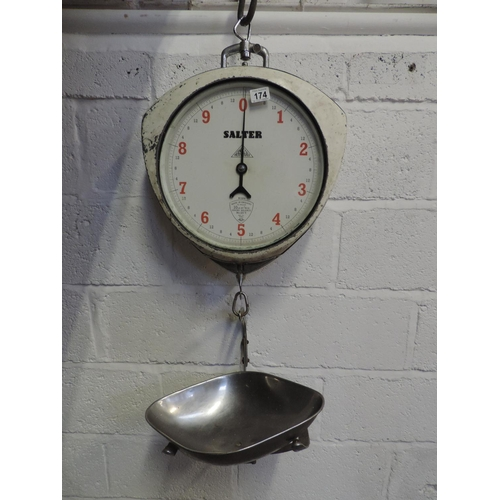 174 - Vintage hanging Salter shop scales...
