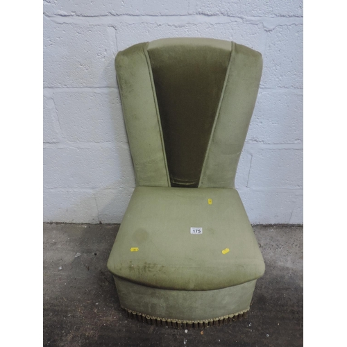 175 - Upholstered bedroom chair...