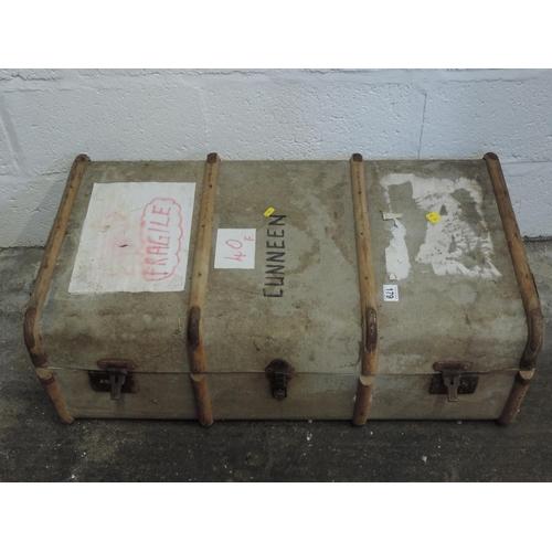 179 - Wood bound trunk...