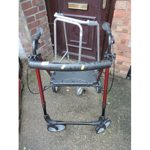 18 - Mobility walker and Zimmer frame...