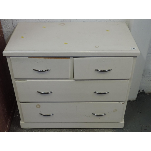 180 - Painted two over two chest of drawers - 34''x 18''x 31''...