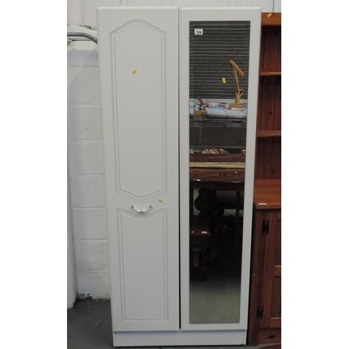 184 - Modern wardrobe with mirrored door...