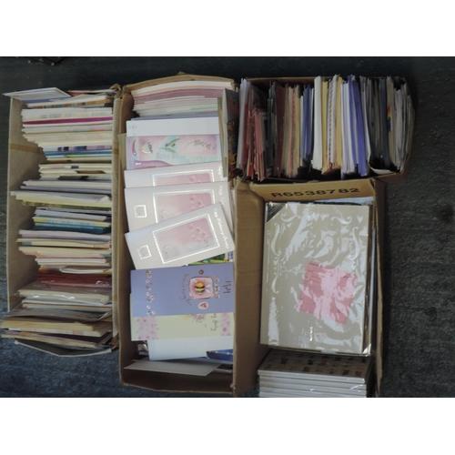 205 - Shelf of greetings cards...