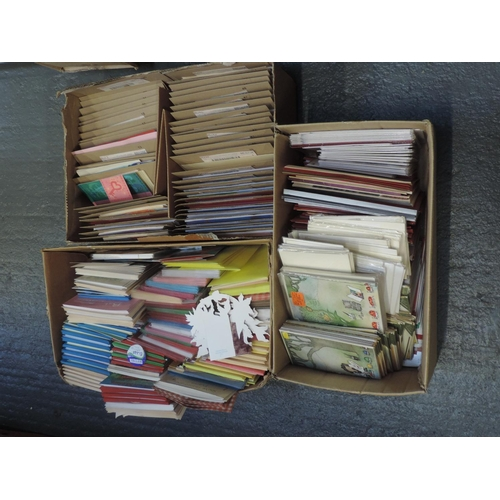 206 - Shelf of greetings cards...