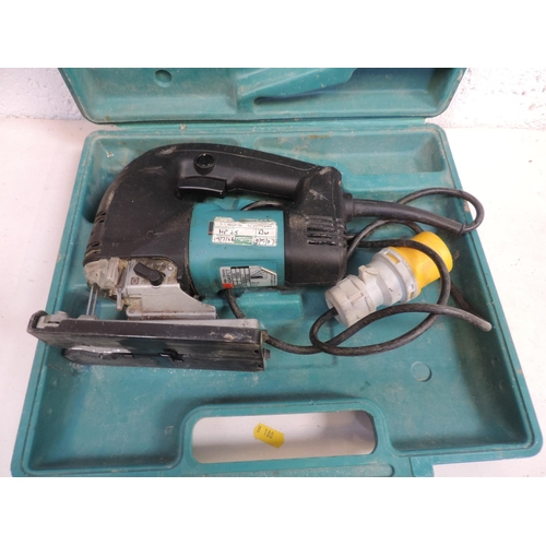 254 - Makita 110V sander in case...