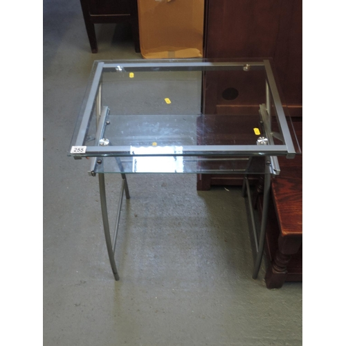 255 - Glass desk...