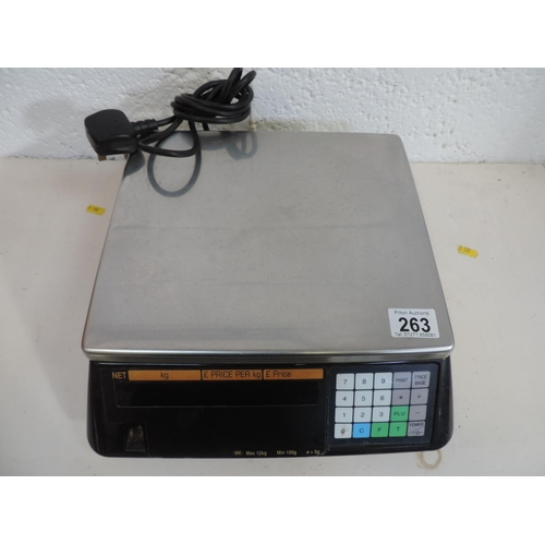263 - Tectech electronic shop scales...