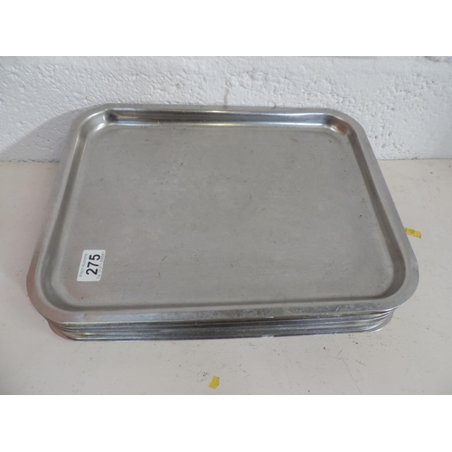 275 - Approx 16x Stainless steel trays - 16''x 12''...
