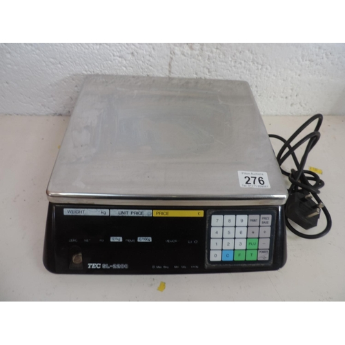 276 - Tectech electronic shop scales...