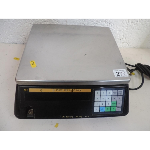 277 - Tectech electronic shop scales...
