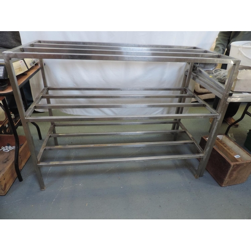 282 - Stainless steel rack - 50''x 22''x 38''...