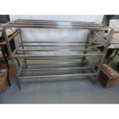 282 - Stainless steel rack - 50''x 22''x 38''...