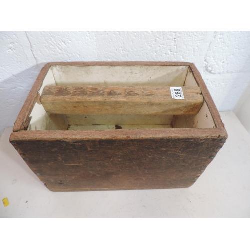 288 - Wooden box...