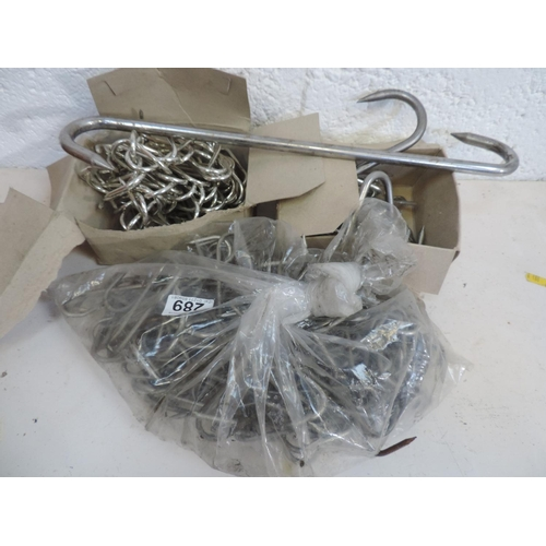 289 - Large quantity of Stainless Steel S hooks...