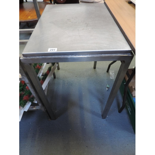 291 - Stainless Steel work table - 27''x 20''x 30''...