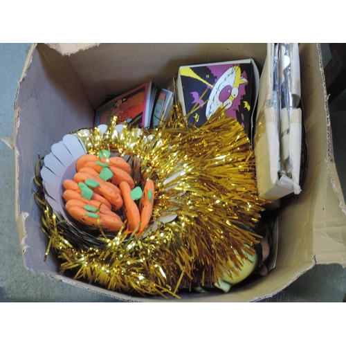 303 - Box of Halloween novelties...
