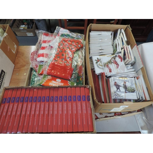 315 - Quantity of Christmas cards, stockings etc...