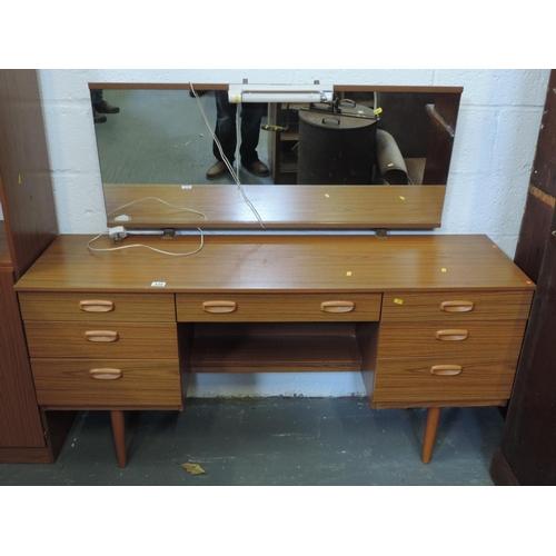 335 - Retro mirror -back dressing table...