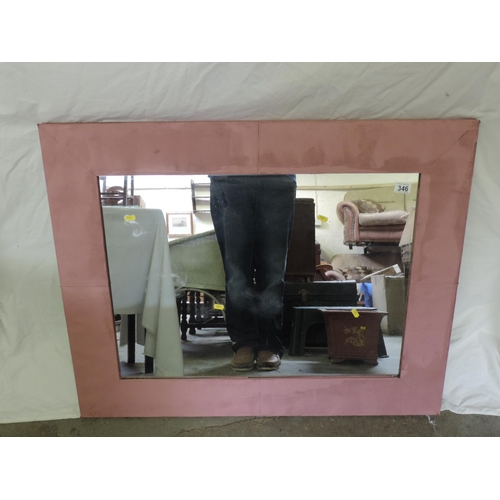 346 - Modern framed mirror...