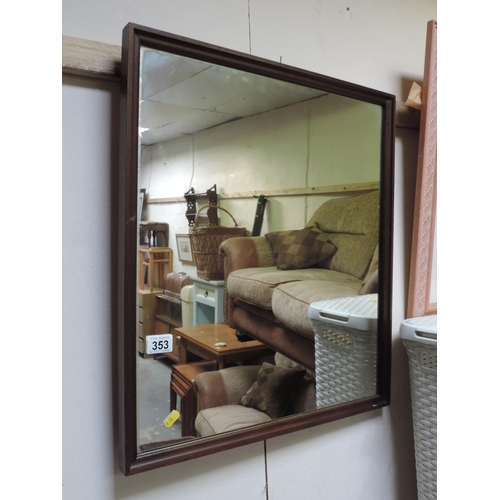 353 - Framed mirror...