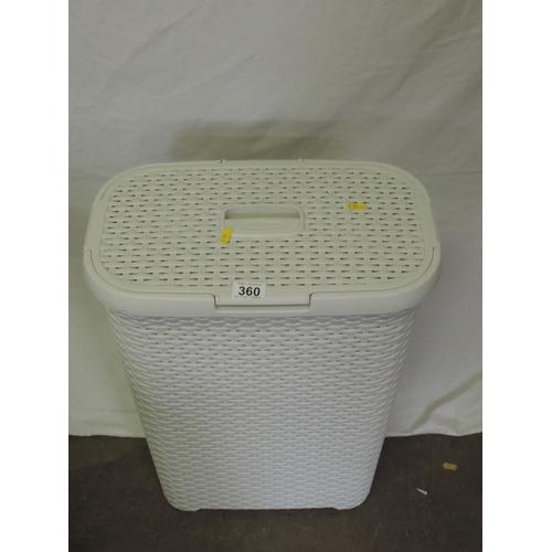 360 - Plastic laundry basket...