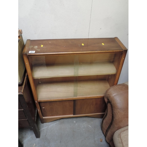 361 - Glazed display cabinet with cupboard under - 29''x 9''x 36''...