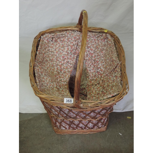368 - Large wicker basket...