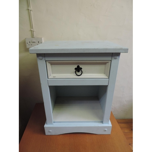 369 - Painted bedside cabinet with single drawer...