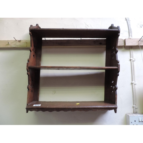 372 - Small Oak hanging wall shelves...