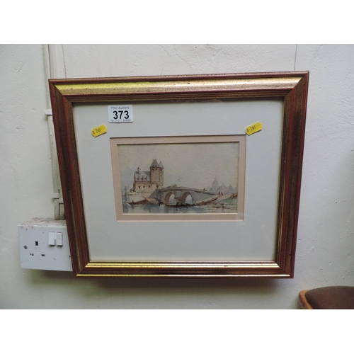 373 - Framed watercolour...