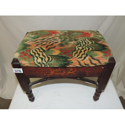 376 - Foot stool with upholstered top...
