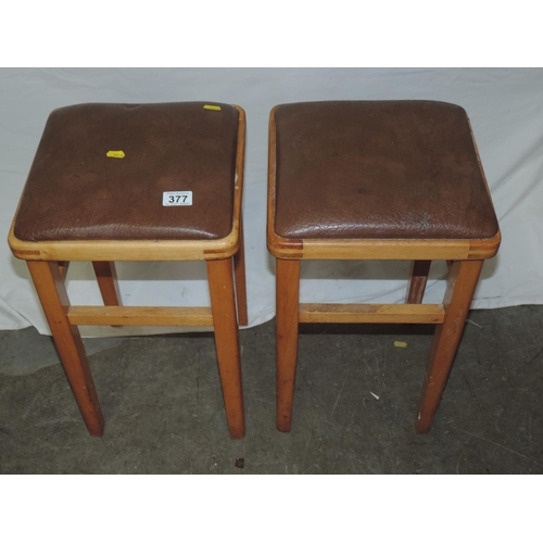 377 - Pair of retro kitchen stools...