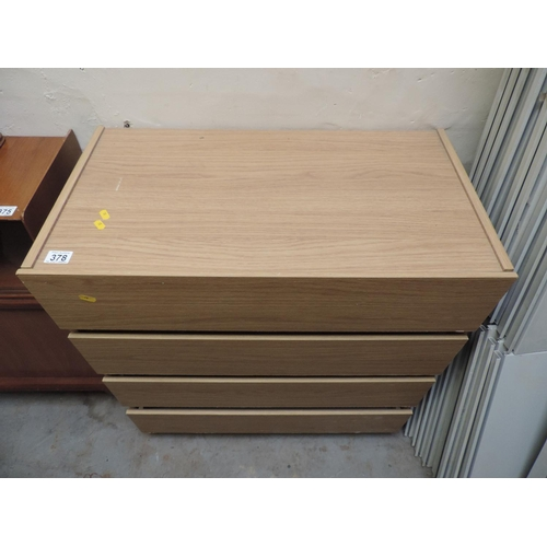 378 - Modern lightwood four drawer chest of drawers - 30''x 17''x 32''...