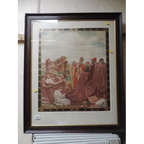 379 - Framed coloured print...