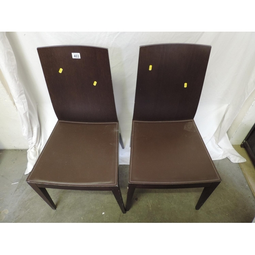 403 - Pair of modern dining chairs...