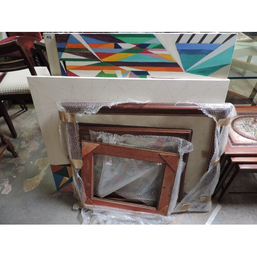 406 - Canvases, picture frames etc...