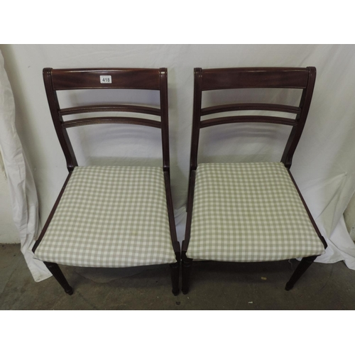 418 - Pair of dining chairs...