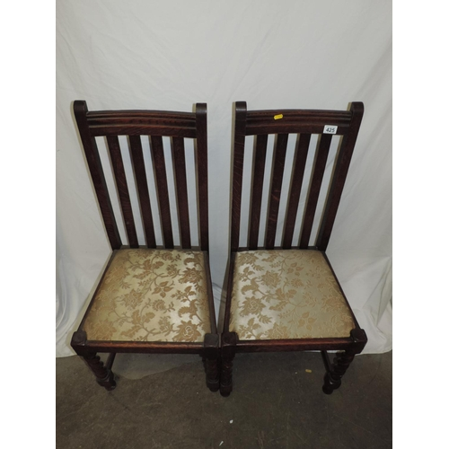 425 - Pair of Oak dining chairs...