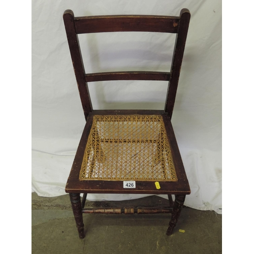 426 - Cane seated bedroom chair...