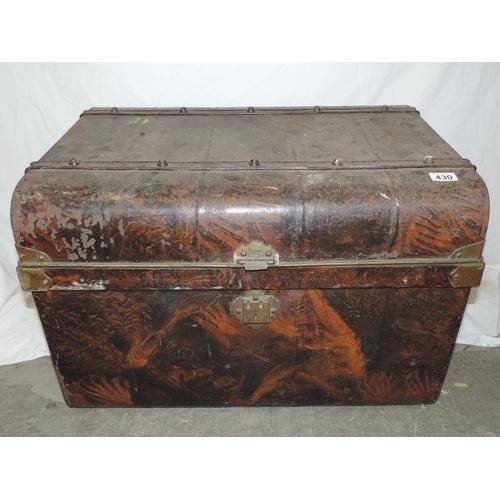 430 - Metal trunk...