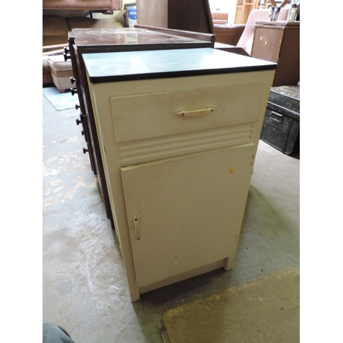 442 - Kitchen cupboard with Formica top...