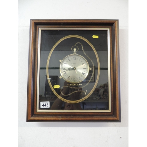 443 - Framed clock...